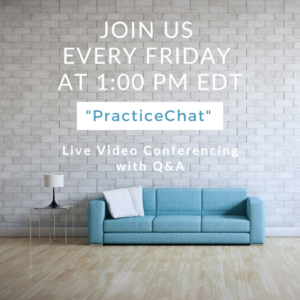 Practice Chat every Friday for Clinicians